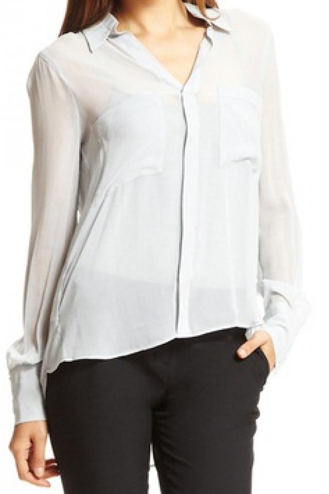 BCBG MAXAZRIA Sheer Blouse Large Photo