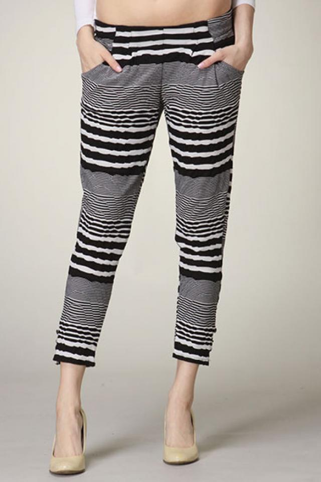 Striped Harem Pants  Photo