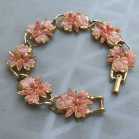 Pretty Pink Flower Bracelet Free Ship Photo