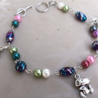 Snoopy Beaded Bracelet Free Ship Photo