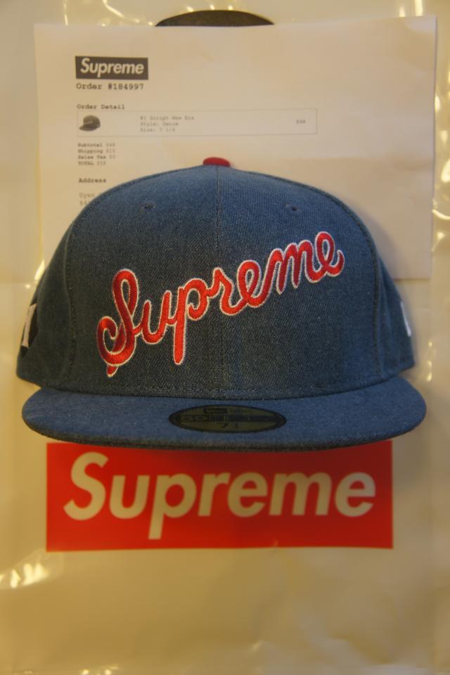 Supreme x New Era #1 Script Hat 7 1/4 Photo