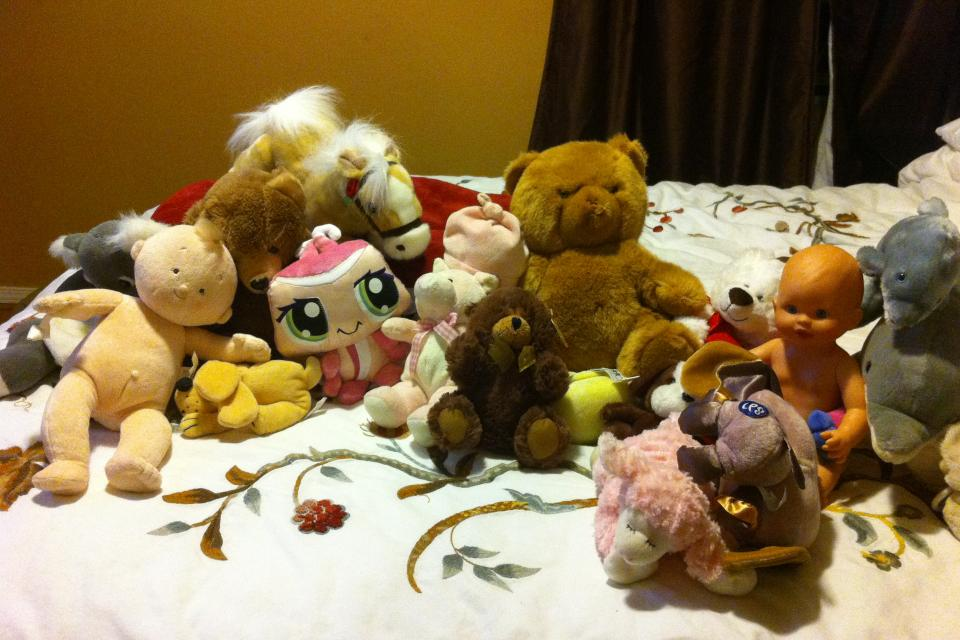 assortment of stuffed animals  Large Photo