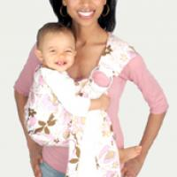 Beautiful Pink Printed Zolo Wear Baby Sling Photo