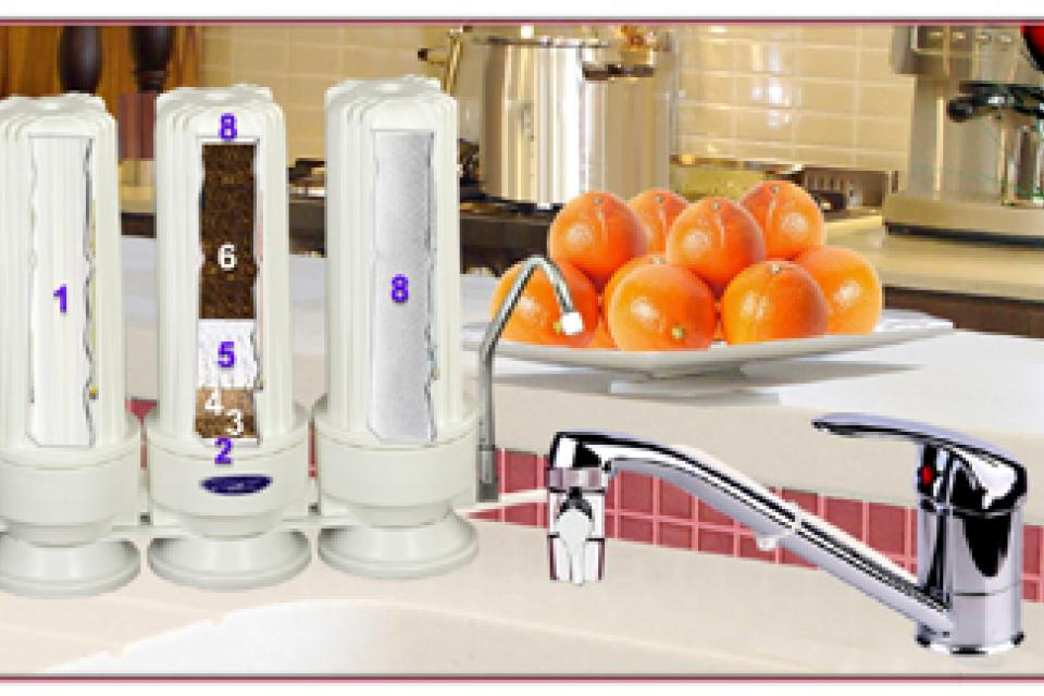 Sell one like this CRYSTAL QUEST® Countertop Replaceable Triple Fluoride Water Filter System Large Photo