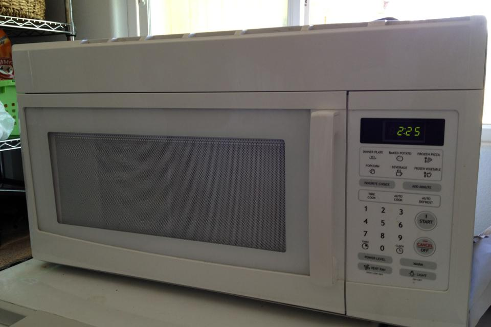 Over the cooktop vented microwave Large Photo