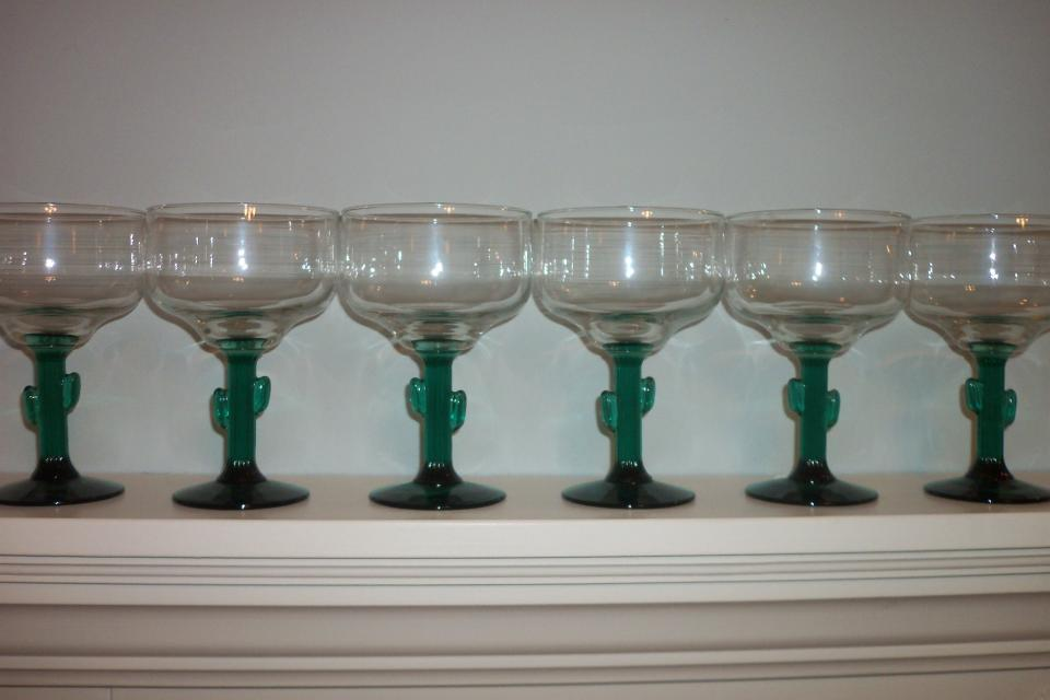 6 NEW MARGARITA GLASSES NEVER USED Large Photo