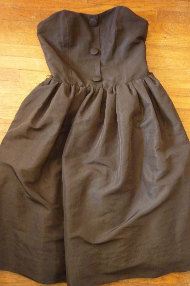 Luella Strapless Black Dress- Size 5 Photo