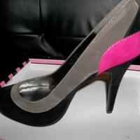 Black and Hot Pink High Heel Shoes Size 9 Free Ship Photo