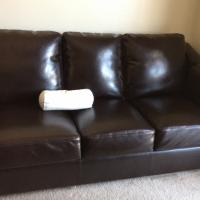 Dark Brown/Espresso Leather Sofa & Loveseat! Photo
