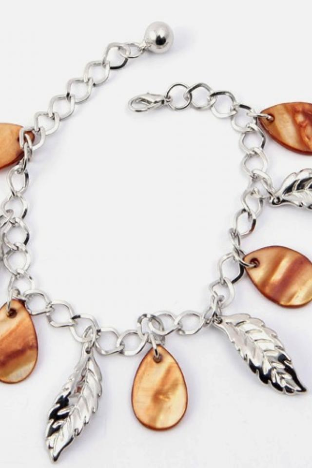 Shell and Leaf Bracelet FREE SHIPPING Photo