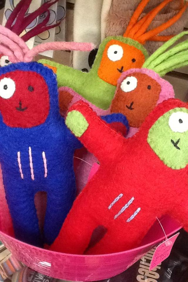 Bean Head Felted Wool Dolls Photo