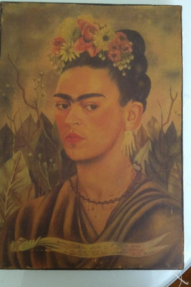 Frida Kahlo on Canvas Photo