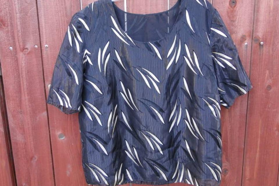 Sheer Vintage Blouse w/ lining Large Photo
