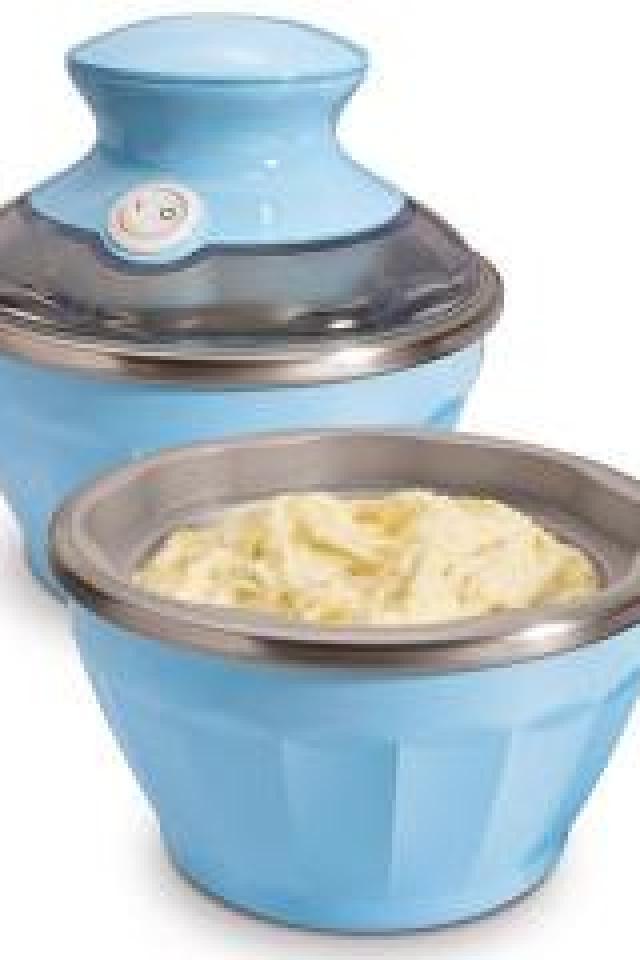 Hamilton Beach Half Pint Soft-Serve Ice Cream Maker, Blue Photo