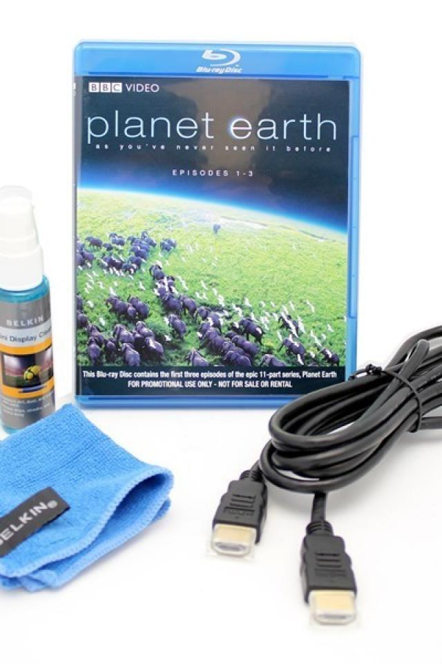 New Belkin LCD Cleaner Kit/HDMI Cable/Planet Earth Bluray Large Photo