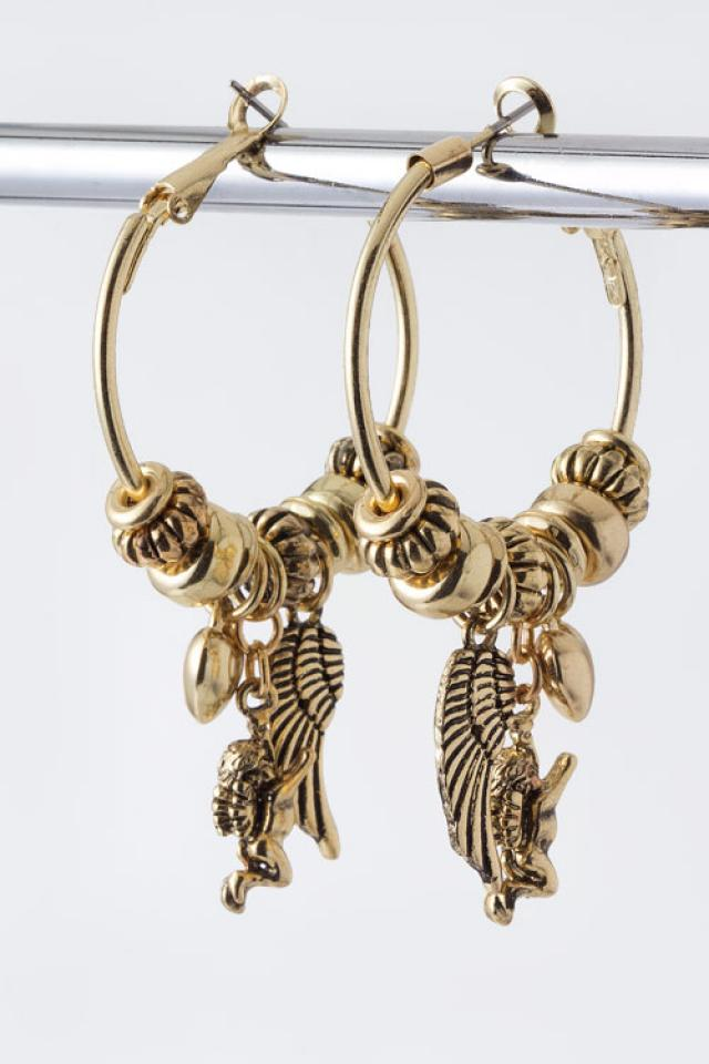 Wing Charm Hoops Photo