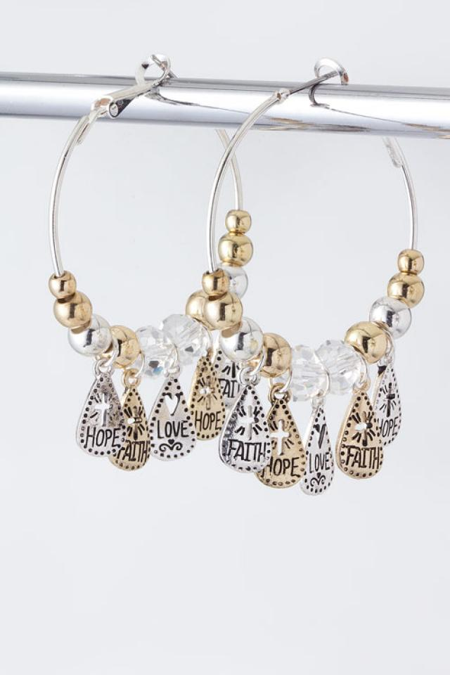 Inspirational charm Hoops Photo