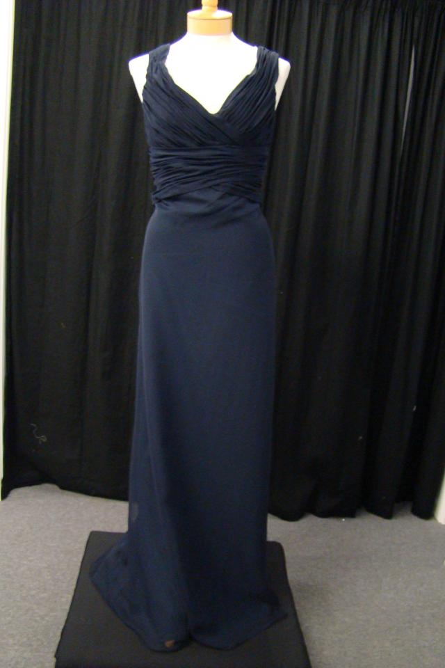 New Navy Chiffon sz 12 Dress Photo