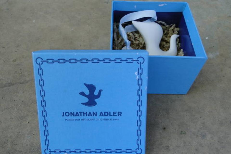 Jonathan Adler Dove Ornament Large Photo