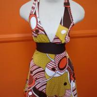vintage halter  summer polyester dress Photo