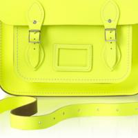 "BRAND NEW 13"" Fluoro Cambridge Satchel Photo"