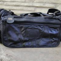 Black Genuine Leather Duffle Bag Photo
