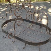 Unique custom iron Pot Rack Photo