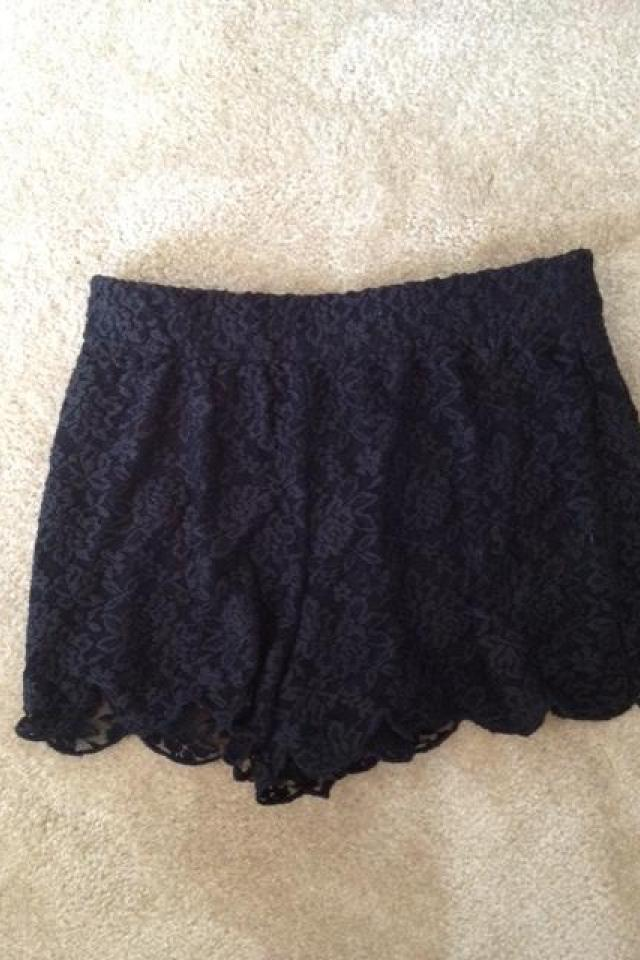 Free People Lace Scalloped Shorts Large Photo