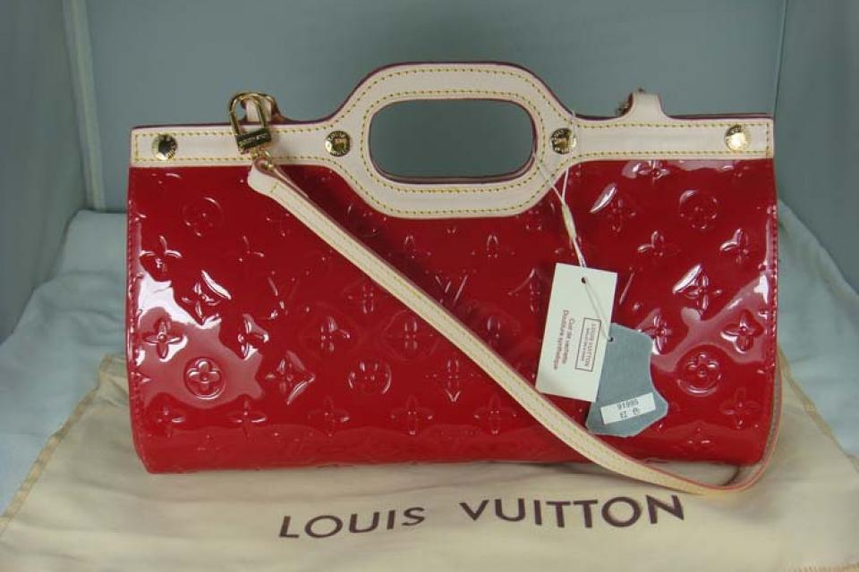 Louis Vuitton Monogram Vernis Roxbury Drive Red Leather Large Photo