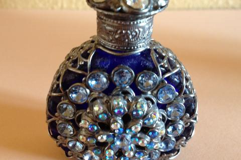 Vintage Glass Perfume Bottle Photo