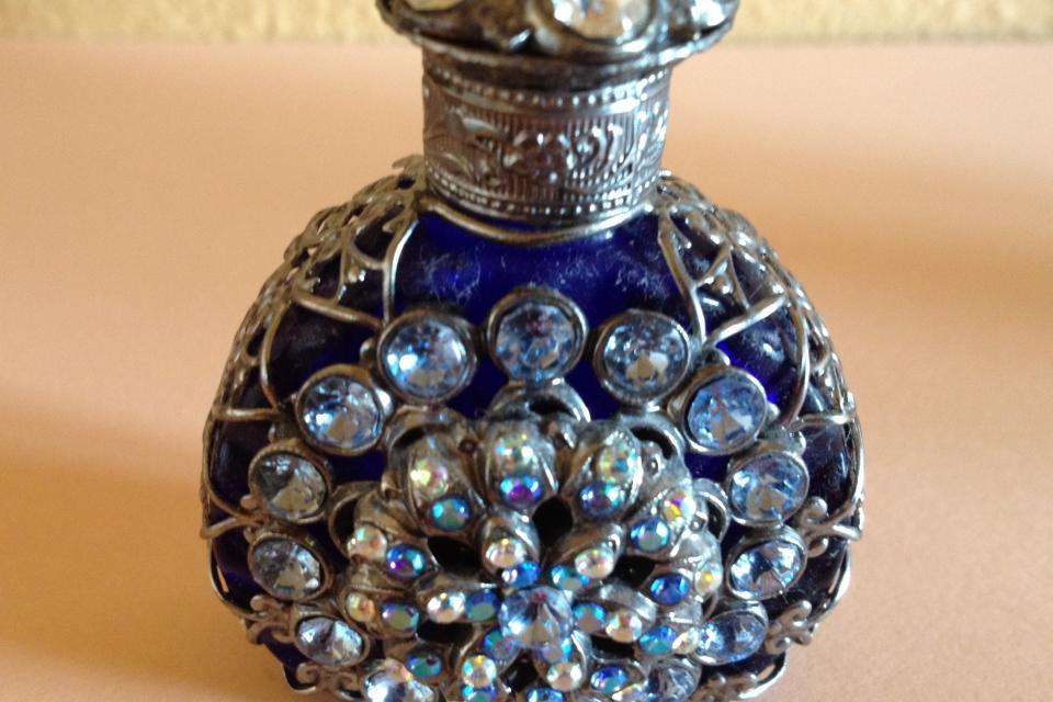 Vintage Glass Perfume Bottle Large Photo