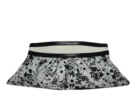 Lauren Merkin - Floral Clutch - Black / White Photo