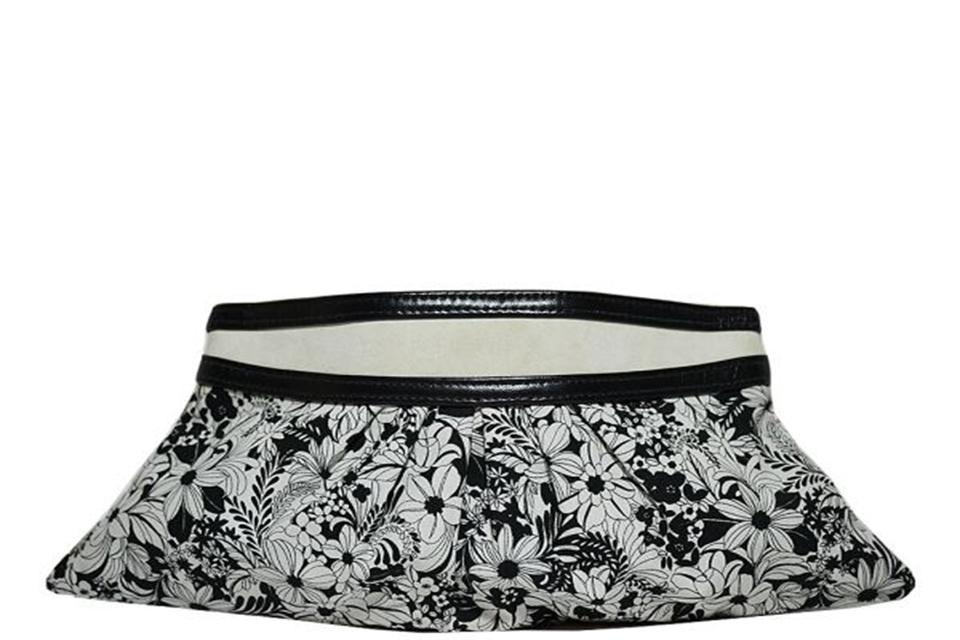 Lauren Merkin - Floral Clutch - Black / White Large Photo