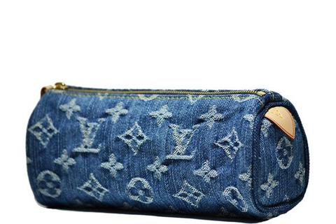 Louis Vuitton - Limited Edition Denim Monogram Speedy PM - Blue Photo