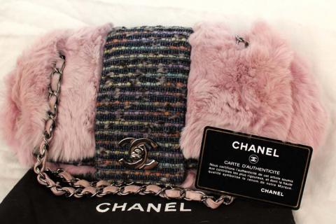 CHANEL Purse Chinchilla /w Dust Bag ! $3500 Photo