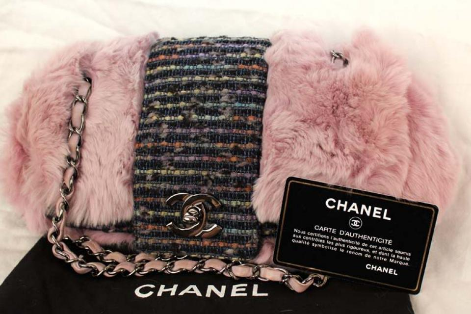CHANEL Purse Chinchilla /w Dust Bag ! $3500 Large Photo