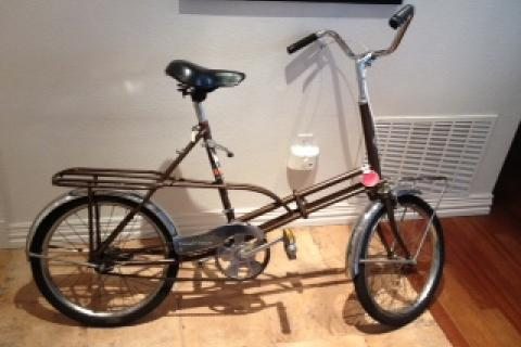 1966 Vintage Sears and Roebuck collapsable tote cycle 3 speed Cruiser Photo