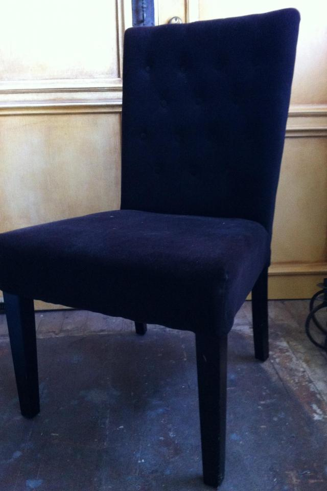 Black Velvet chair Photo