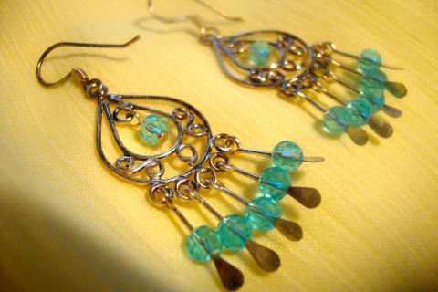 Mini Chandelier Earrings Photo
