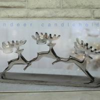 Heavy Duty Leaping Reindeer Candle Holder Photo