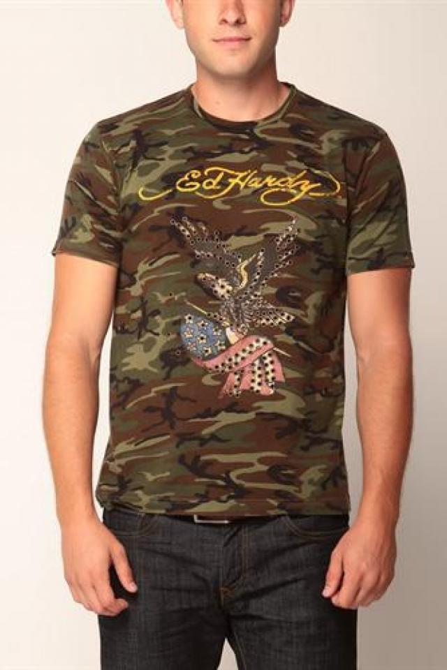 Ed Hardy Graphic T-Shirt Size M Large Photo