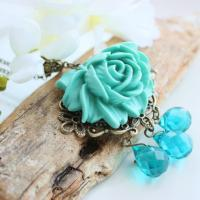 Blue Rose Necklace Photo