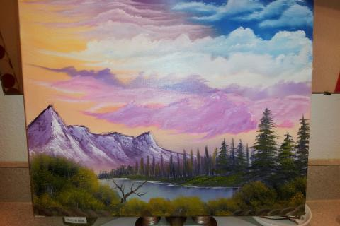 Mountain painting Photo