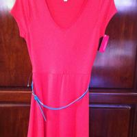 Coral Belted Dress Photo