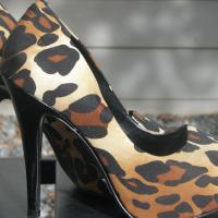 JESSICA SIMPSON♥♥ Fabric Leopard Print  Pumps Size 6 B, VERY TRENDY, LOOK!! Photo
