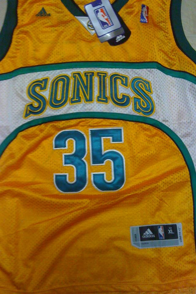 Kevin Durant Seattle Supersonics Throwback Jersey SZ XL NWT Photo