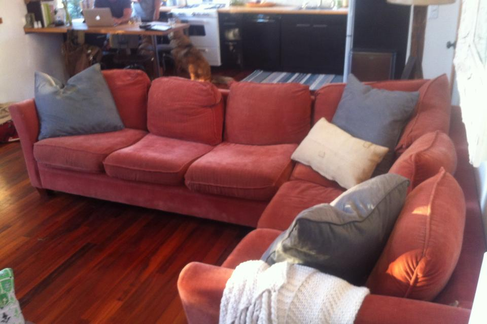 Used Sectional Couch, Good Condition Large Photo