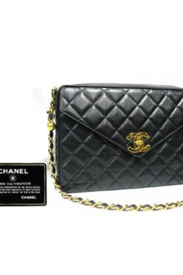 Preloved CHANEL caviar skin black purse Photo