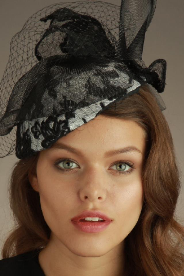 Ellen Christine Evening Lace Cap-Beret Photo