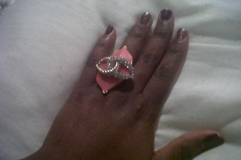 Pave Coral Ring Photo